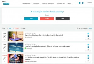 Promote your startup event on techberlin and have it voted up